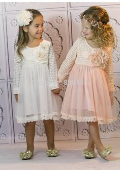 Find More Dresses Information about Hot Sell  spring and autumn long sleeve  embroidery yarn  children dress Wholesale pink white,High Quality yarn quality,China dresses wear wedding reception Suppliers, Cheap dress high from Leader international trade company on Aliexpress.com
