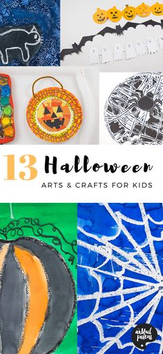 Our favorite Halloween arts & crafts for kids include fun ways to create spiders, pumpkins, & more. Get creative as you celebrate & decorate for Halloween! via Artful Parent Halloween Arts And Crafts, Halloween Activities For Kids, Art Activities For Kids, Craft Projects For Kids, Crafts For Kids To Make, Creative Activities, Creative Kids, Halloween Kids, Art For Kids