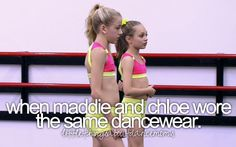 Little Things About Dance Moms. I swear the girls never wear the same outfit more than once!