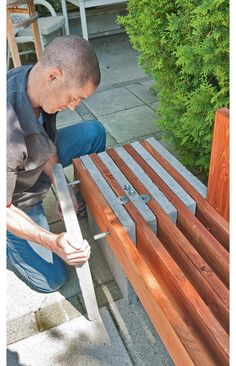 45 Best DIY Outdoor Bench Ideas for Seating in The Garden woodworking bench woodworking bench bench base bench diy bench garage workbench bench plans bench plans australia bench plans roubo bench plans sketchup Garden Seating, Outdoor Seating, Garden Benches, Backyard Seating, Garden Bench Seat, Timber Bench Seat, Outdoor Cafe, Outdoor Rooms, Outdoor Living