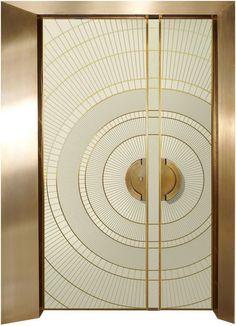 Art Deco Pre - and half - door, art - designed entrance doors - ART - Reshafim