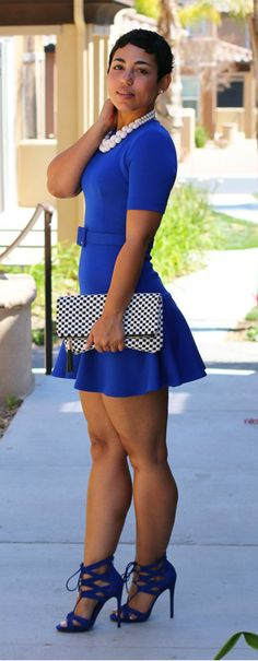 Too young for me but this is cute!  DIY Blue Flounce Dress + Steve Madden Heel by Mimi G.