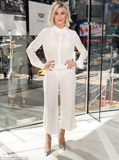 Julianne Hough walks into Good Morning America to promote Dancing With The Stars | Daily Mail Online