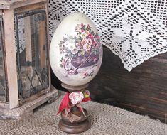 """Купить интерьерное яйцо 10 из весенней коллекции """"Пробуждение"""" - коричневый, яйцо, яйцо пасхальное"""