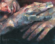 "David Agenjo, ""Hands-on V,"" acrylic on canvas"