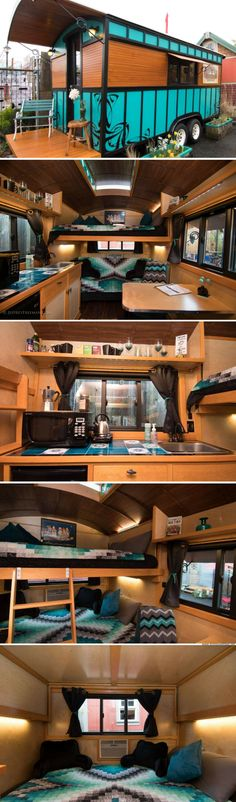 The Amazing Mysterium: a 120 sq ft home at the Tiny House Hotel in Portland