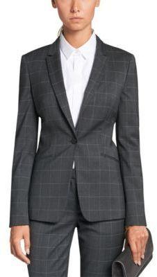 9da1566b4 Boss Hugo Boss Jabina Blzr Notch collar Single button closure 2 welt  pockets cuffs Back length: in cm) Stretch virgin wool
