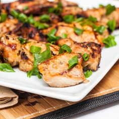 Grilled #chicken thighs - tender, juicy and significantly more delicious than chicken breasts. In an Asian marinade. #glutenfree #dairyfree
