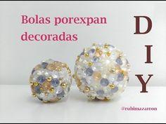 BOLA DE LUJO *DIY*  Decorada de forma super-fácil.....un resultado wwwuuaauu¡¡¡ - YouTube