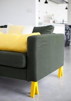 Hippe gele unieke #poten voor je #stoel, #tafel, #kast of #bed.