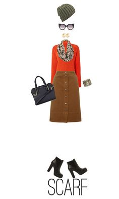 """""""Scarf..."""" by simonethe ❤ liked on Polyvore featuring Steve Madden, Sportmax, Topshop, TOMS, Black Rivet, Avenue, Wet Seal and scarf"""