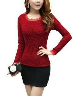 Women Long Sleeve Round Neck Lace Cuff Fleece Lined Top Shirt uxcell http://www.amazon.com/dp/B00I8JLHBG/ref=cm_sw_r_pi_dp_BQc4tb0RA083Z9J2