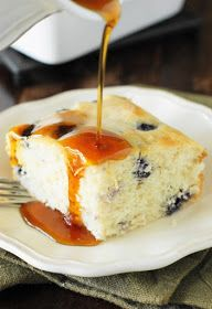 Fluffy Baked Blueberry Buttermilk Pancakes ~ done in the oven, no flipping required!  www.thekitchenismyplayground.com