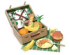 picnic set papercraft