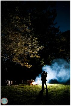 night time engagement photos, camping engagement photos, camp fire engagement photo at night