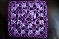 Basic Granny Square - free crochet pattern by Sherri Krynak.