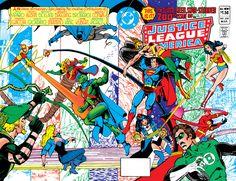 Justice League Story, Original Justice League, Justice League Comics, Comic Book Covers, Comic Books Art, Book Art, Superhero Stories, Superhero Images, Justice League Unlimited
