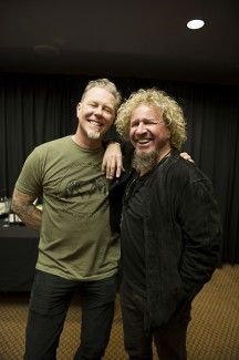 On Saturday, I went to the Metallica show. This was backstage before the show with Lars and James, T Shirt Metallica, Kirk Metallica, Music Love, Music Is Life, Metal Bands, Rock Bands, Hard Rock, Sammy Hagar, Great Comebacks