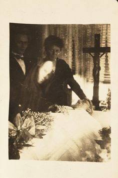 Ghosts captured on film, circa 1920. | 23 Deeply Disturbing Vintage Photos That You Can't Unsee