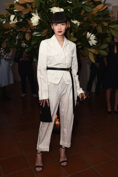 Model Kozue Akimoto attends the Michael Kors And Vogue Japan Celebrate Kate Hudson's Work With Watch Hunger Stop In Support Of The World Food Programme on November 13, 2017 in Tokyo, Japan.
