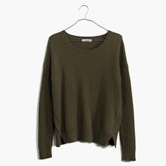 Vented and cropped with a dramatic shirttail hem, this cool textured pullover is one that can span the seasons.  <ul><li>True to size.</li><li>Cotton/viscose/nylon.</li><li>Hand wash.</li><li>Import.</li></ul>