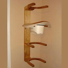 e6bb625a8be72 Wooden Cowboy Western Hat Rack 4 Hook Vertical Wall Mount. Percha De  SombreroSombreros ...
