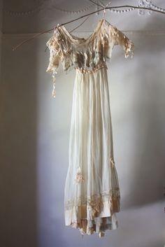 ghostly Edwardian ballgown