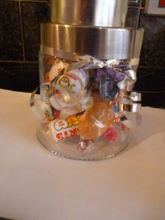 sweeties for those special Trick or Treaters :-) £5 per jar.   These can be personalised for various occasions eg wedding favours, childrens party gifts, christening favours etc with name, different sweets and decorations etc.