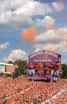 Notice how the balloons form a heart. Just shows you that God is a Clemson Tiger fan ;-)