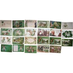 Lot 23 St. Patrick's Day Postcards 1900s/1910s #1  -- found at www.rubylane.com #vintagebeginshere