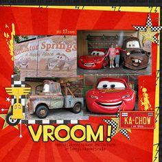 Vroom - MouseScrappers - Disney Scrapbooking Gallery