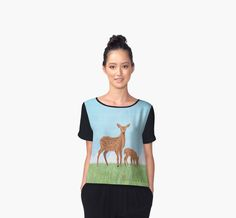 Deer and Fawn by Lidra