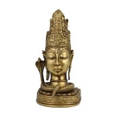 Figurine Idol Shiva Statue Sculpture Art Hindu; Brass