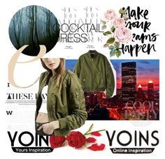"""Bomber Jacket"" by apple-unofficial ❤ liked on Polyvore featuring Rika and yoins"