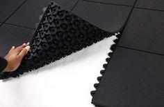 Evolution Rubber Tiles - Comfortable, Durable Interlocking Rubber Tiles  I  Home Gym Flooring from RubberFlooringInc.com