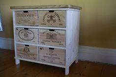 Chêne de stockage commode / armoire faite avec du vin rustique