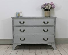 Vintage Bow Fronted Three Drawer Chest