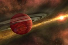 An enormous alien planet — one that is 11 times more massive than Jupiter —  was discovered in the most distant orbit yet found around a single parent  star.The newfound exoplanet, dubbed HD  106906 b, dwarfs any planetary body in the solar system, and circles its star at  a distance that is 650 times the average distance  between the Earth and the sun.