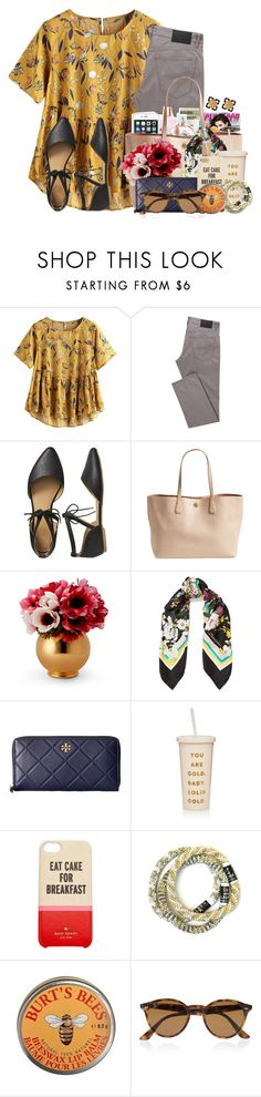 """""""I have to say I had a good Monday✨"""" by flroasburn ❤ liked on Polyvore featuring Gap, Tory Burch, Dolce&Gabbana, ban.do, Kate Spade, Burt's Bees and Ray-Ban"""