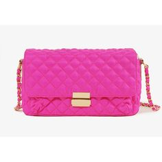FOREVER 21 Quilted Neon Crossbody ($25) ❤ liked on Polyvore
