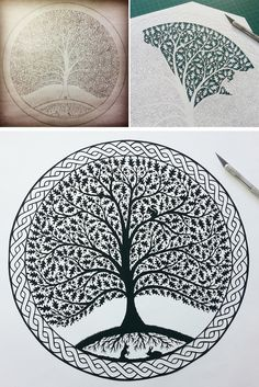 Tree of paper. Famous contemporary art | DIY is FUN
