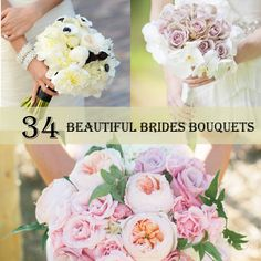 34 Beautiful Brides Bouquets http://weddingideasbyyou.com/2014/03/20/34-beautiful-brides-bouquets/ Follow Us on Pinterest --> http://www.pinterest.com/weddingideasbyu/