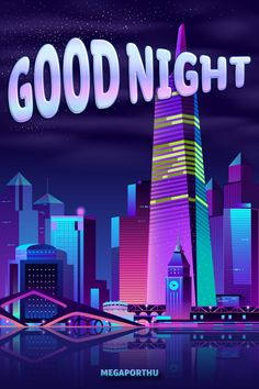 #goodnight #city #night #cartoon #landscape #ecards Share Pictures, Animated Gifs, Good Night Quotes, E Cards, Neon Signs, Cartoon, Landscape, Sayings, City