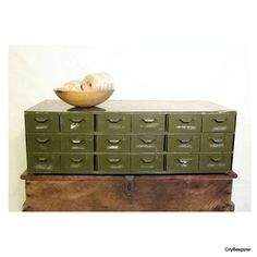 Vintage Industrial Lyon Metal Parts Cabinet  by CityBeepster, $148.00