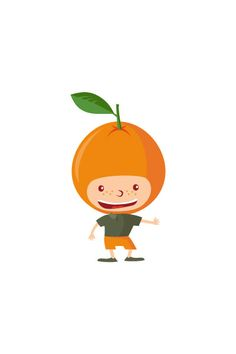 Orange Kid Vector #orange #vector #fruits #handdrawvector http://www.vectorvice.com/fruit-kids-vector-pack