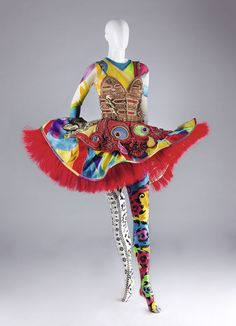 """""""The Firebird"""" costume by Gianni Versace, part of the former """"Il Teatro alla Moda"""" exhibit at the Wallis Annenberg Center for Performing Arts, Beverly Hills."""