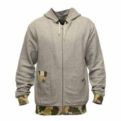 Crooks & Castles Heavy Steel Knit Zip Hoodie Speckle Grey