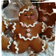 Gingerbread girl decorated cookies