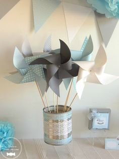 moulins à vent guirlande fanion decoration baptme