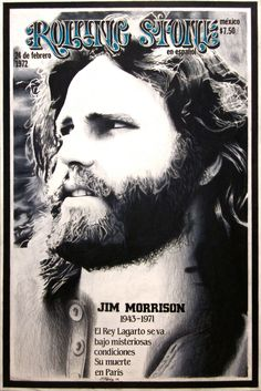 Jim Morrison on the cover of Rolling Stone right after his death.